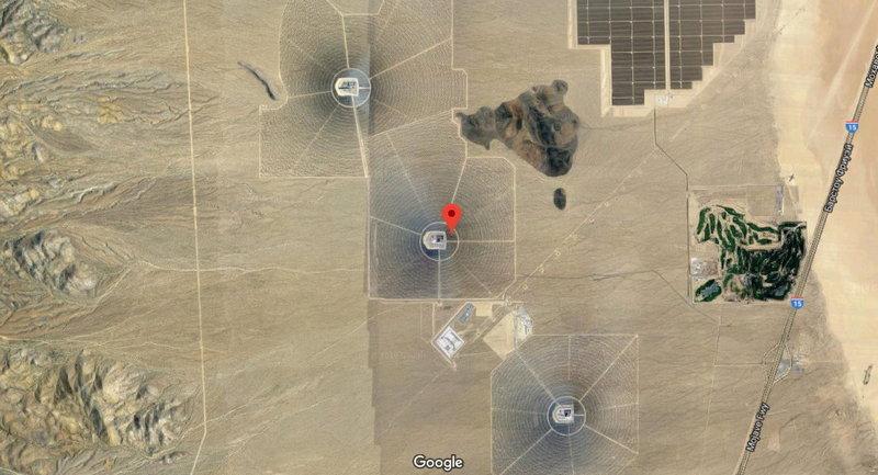 Ivanpah: фото со спутника