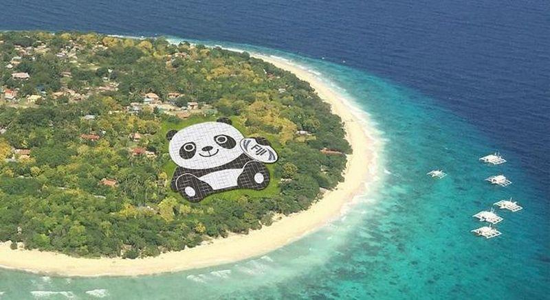 СЭС-панда на Фиджи