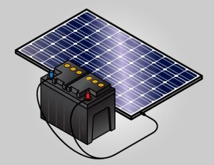 Солнечная панель с батареей