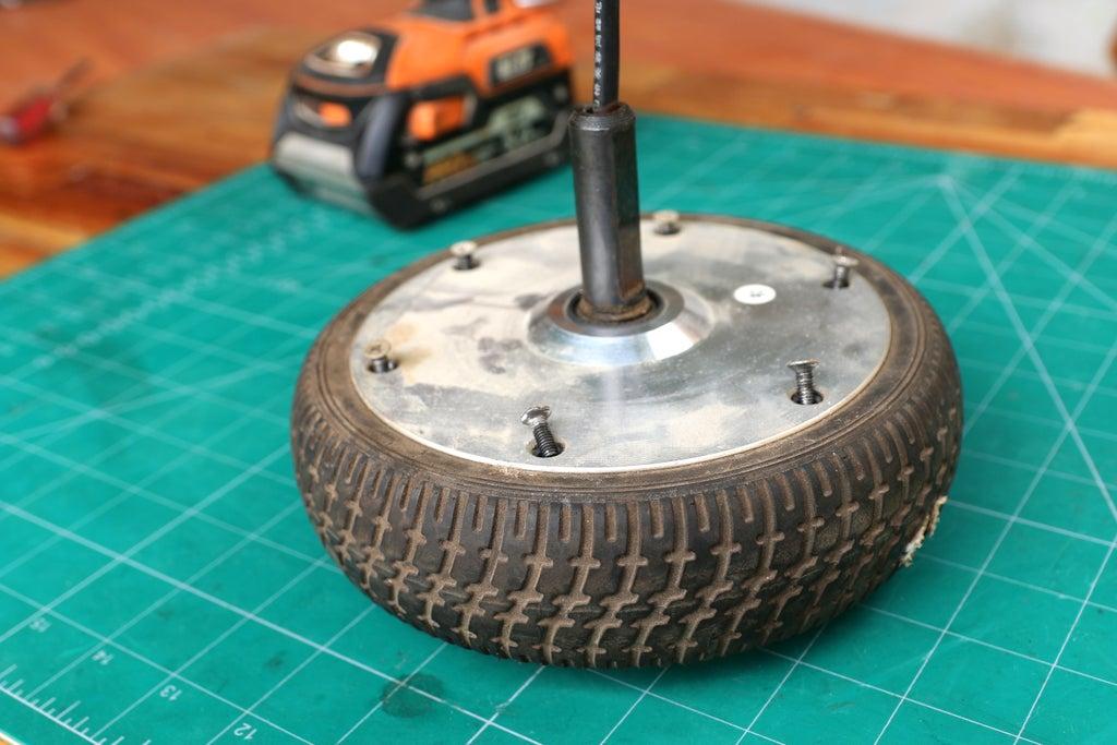 Разборка мотор-колеса