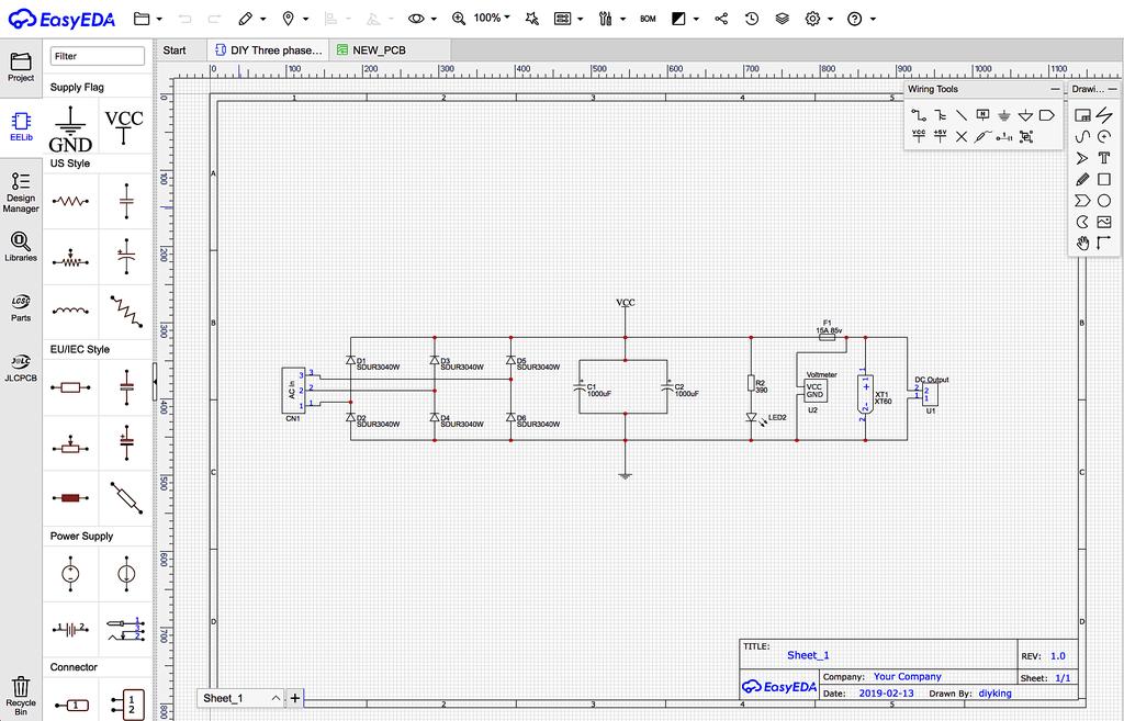 Схема выпрямителя тока