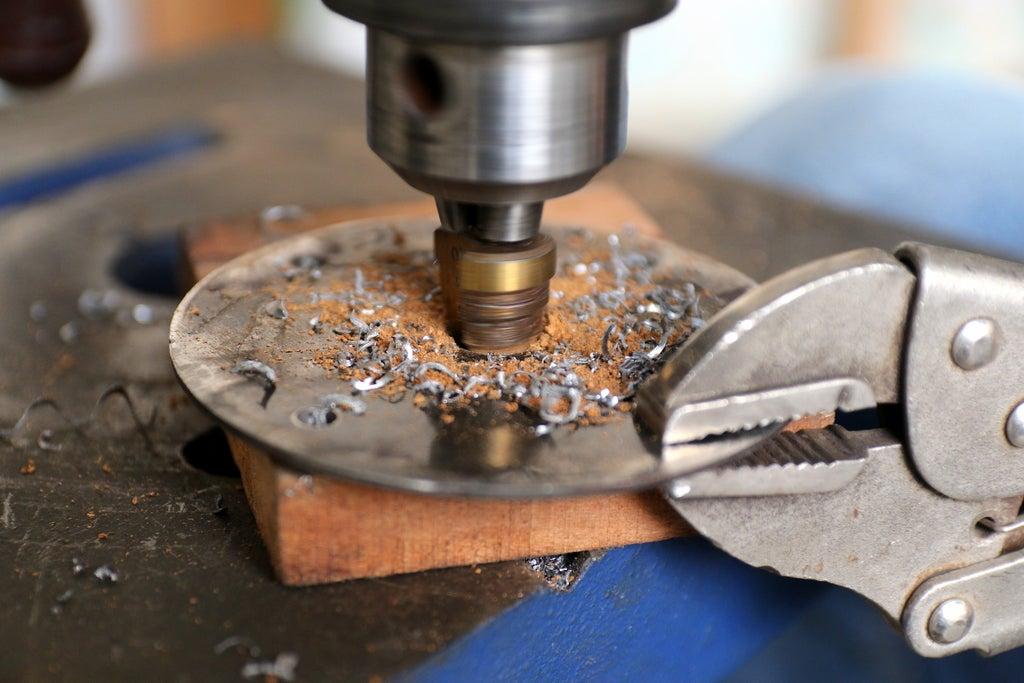 Сверления пластины для поворотного механизма
