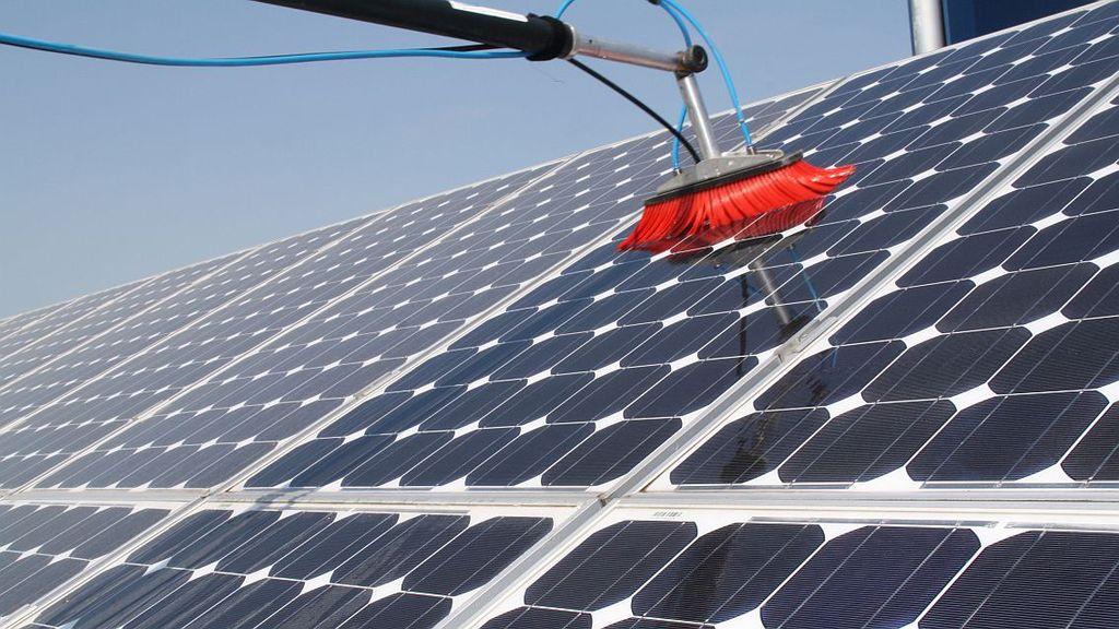 Дисковая щётка для мойки солнечных панелей