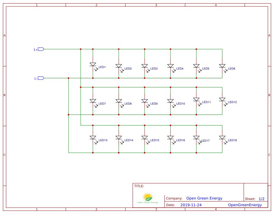 Схема соединения светодиодов