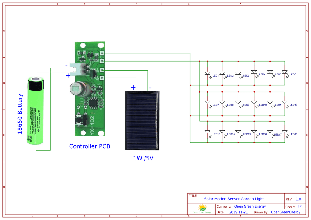 Схема светильника с датчиком движения