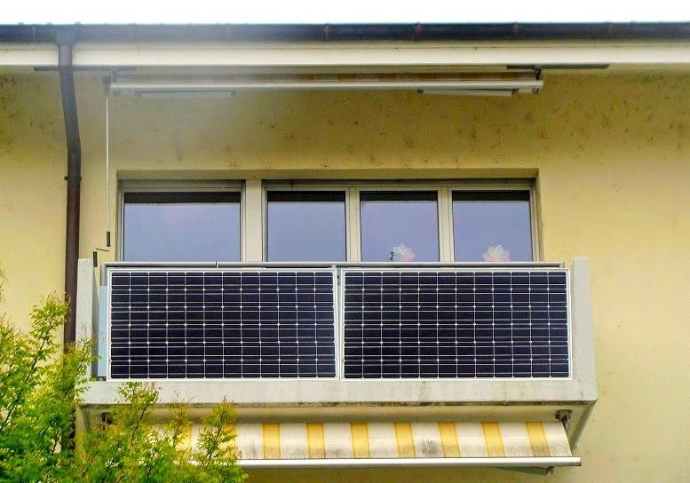 Солнечные панели на балконе